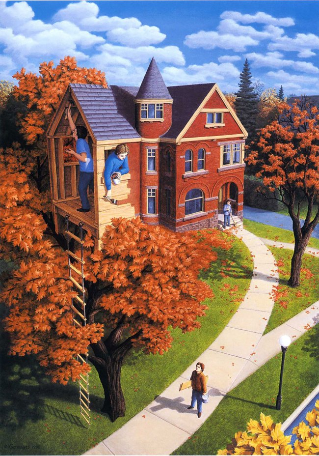 Robert_Gonsalves_Tree_House_In_Autumn